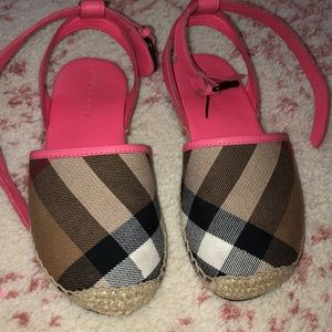 Kids Pink Burberry shoes
